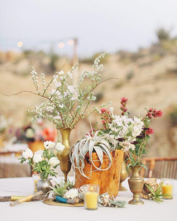 Esstisch exotische Tischdeko