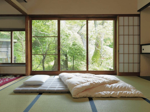 Fetonbett gesunder Schlaf japanisches Bett Vorteile