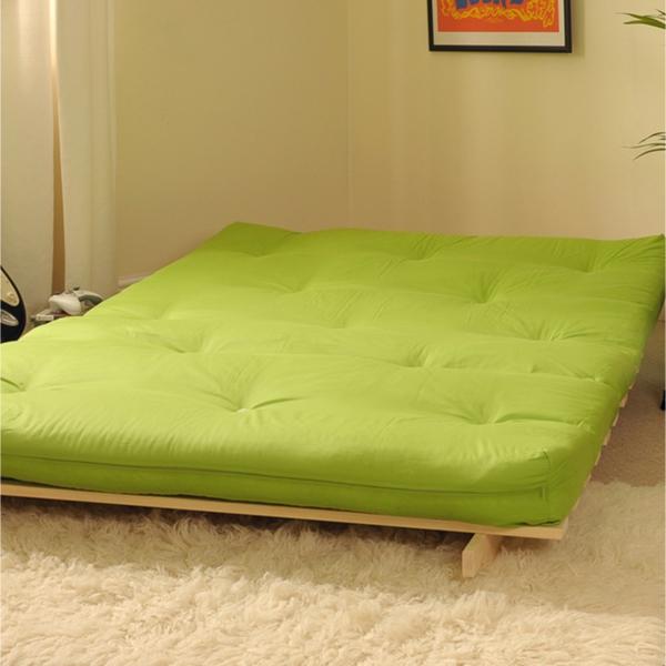 Fetonbett grün Baumwolle japanisches Bett