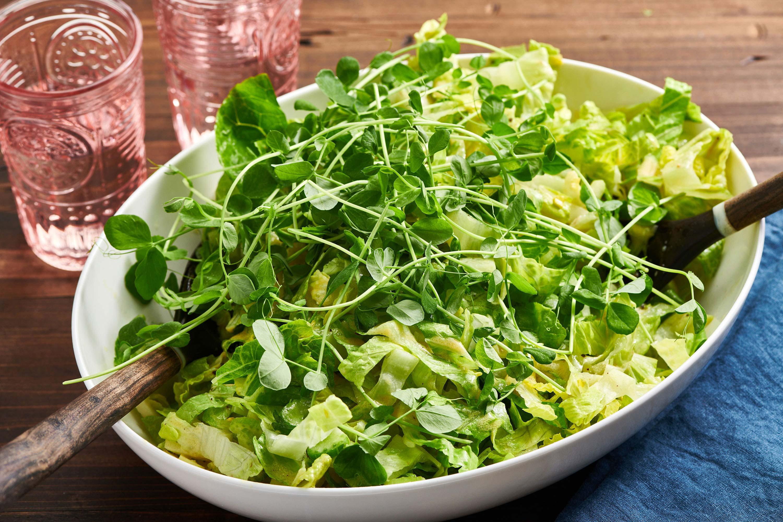 Frische Gemüsesorten - leckerer grüner Salat