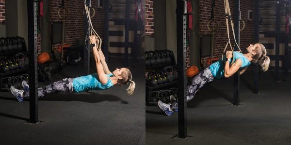 Exercices d'entraînement à l'élingue pour tout le corps pour une ligne de fitness à domicile lourde verticalement