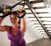 Ganzkörper Schlingentrainer Übungen für Heimfitness