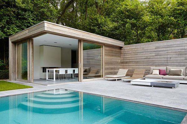 Gartengestaltung moderne Gartenhäuser