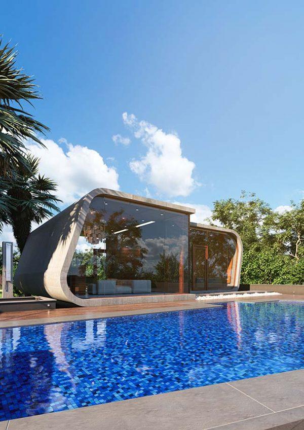 Gartenhaus Ideen moderne Architektur