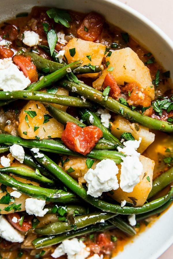 Grüne Bohnen Eintopf mit Kartoffeln nach griechischer Art