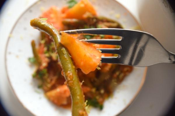 Grüne Bohnen Eintopf nach griechischer Art