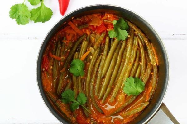 Grüne Bohnen Eintopf nach mediterraner Art