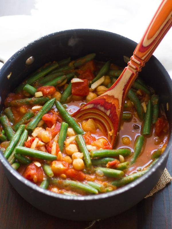 Grüne Bohnen Eintopf zubereiten nach mediterraner Art Zutaten