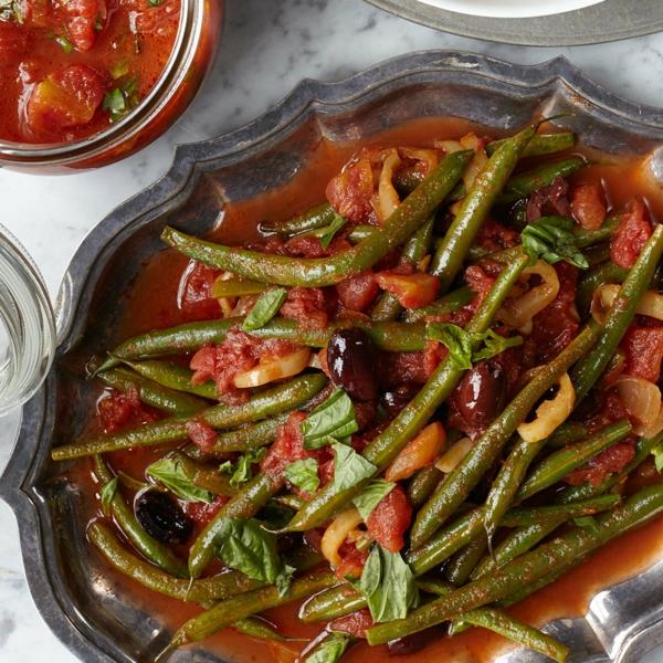 Grüne Bohnen Eintopf zubereiten nach mediterraner Art