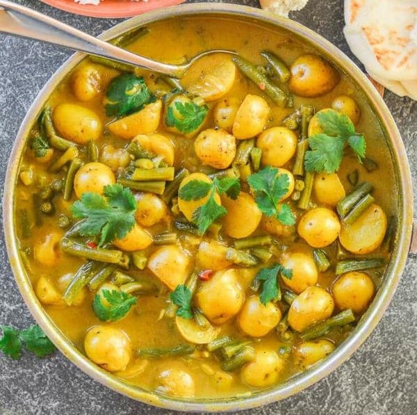 Grüne Bohnen Rezept zubereiten mediterraner Art Zutaten