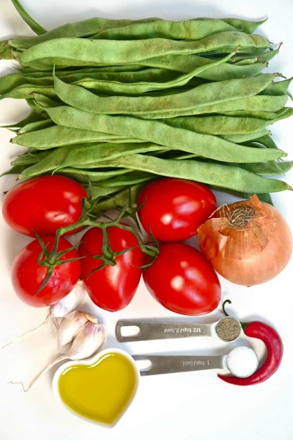 Grüne Bohnen zubereiten Zutaten