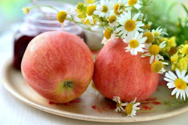 Jahreszeitenwechsel Äpfel Kräuter