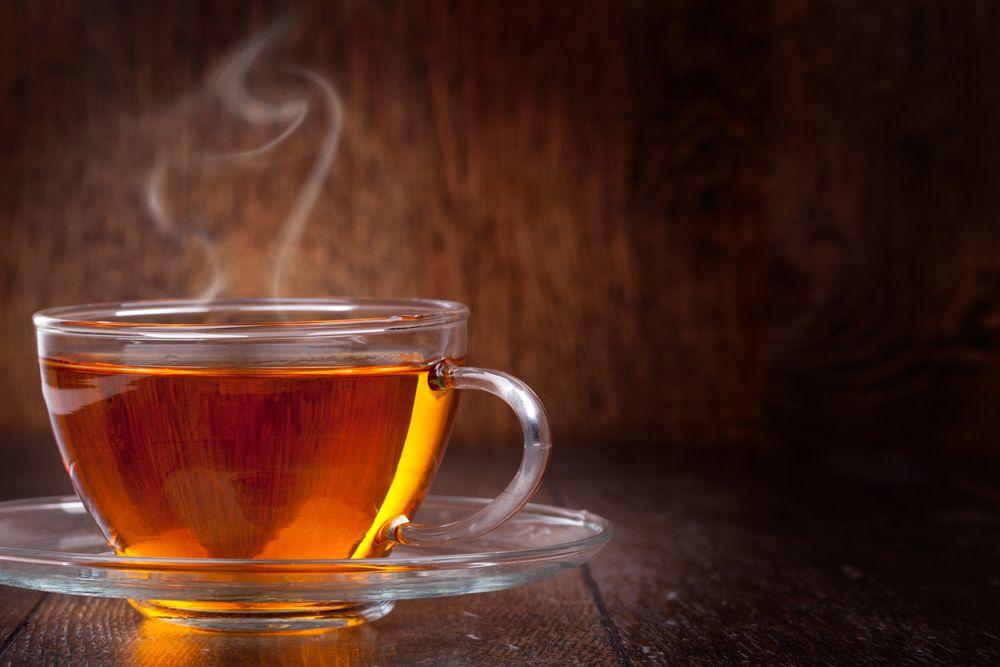 Leckerer schwarzer Tee - Gicht