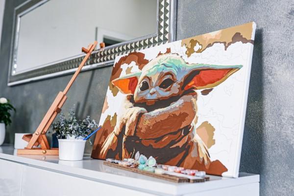 Pintura por números - o hobby mais relaxante de todos, pintura baby yoda