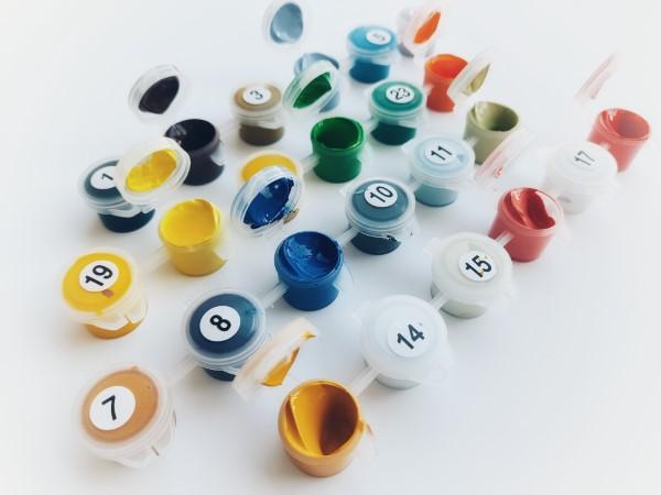 Pintura por números - o hobby mais relaxante por excelência pintar muitos números coloridos