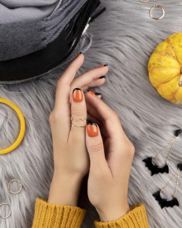 Orangene Schattierung Nagel Trends