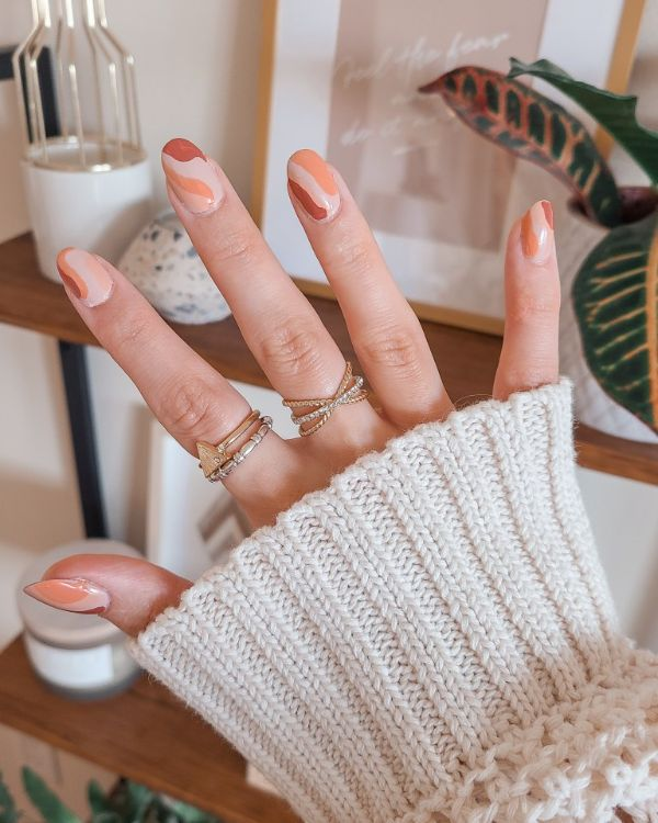 Ovale Muster Fingernägel Trends