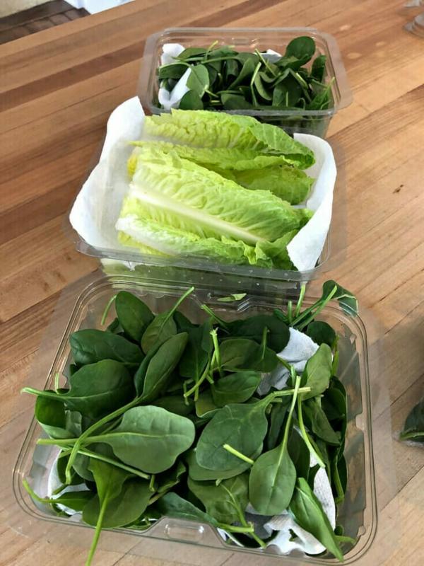 Αποθηκεύστε σαλάτα Αποθηκεύστε πράσινη σαλάτα