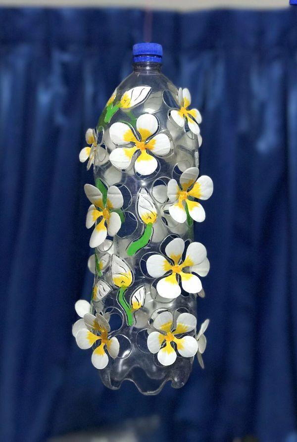 Schöne Hochzeitsdeko Basteln mit PET Flaschen