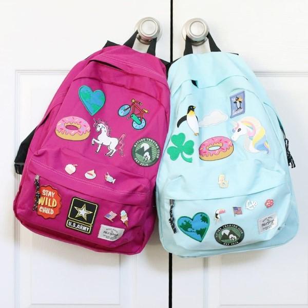 Schultaschen für Teenager selber gestalten – kreative Ideen und einfache Anleitungen flicken rucksack jungs mädchen