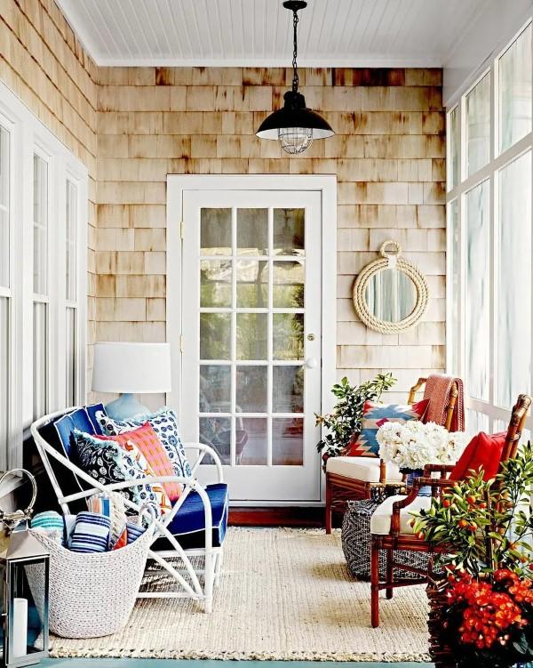 Sommer-Deko für den Eingangsbereich – hilfreiche Tipps und kreative Ideen eingang sitzen sessel