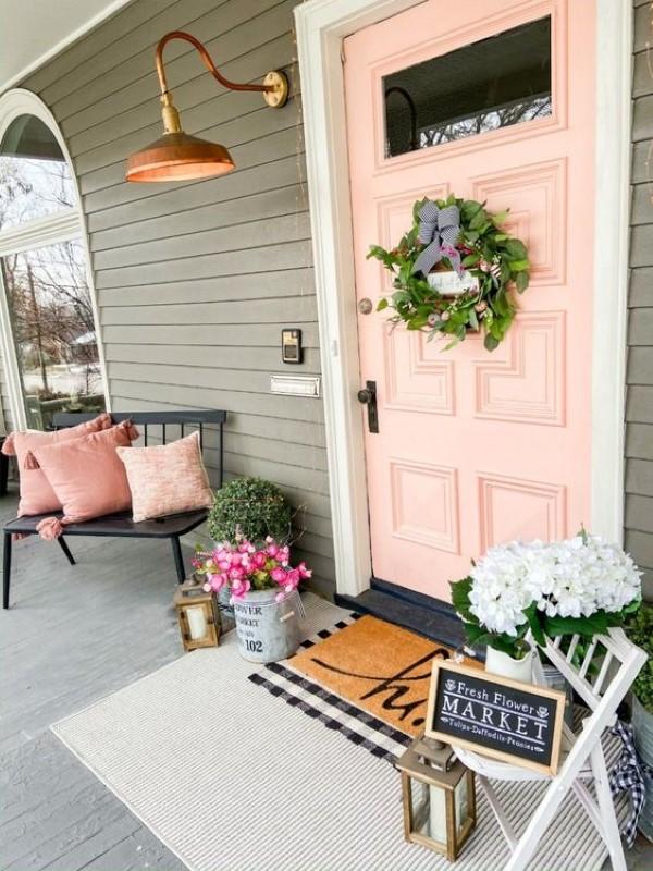 Sommer-Deko für den Eingangsbereich – hilfreiche Tipps und kreative Ideen feminin rosa grau