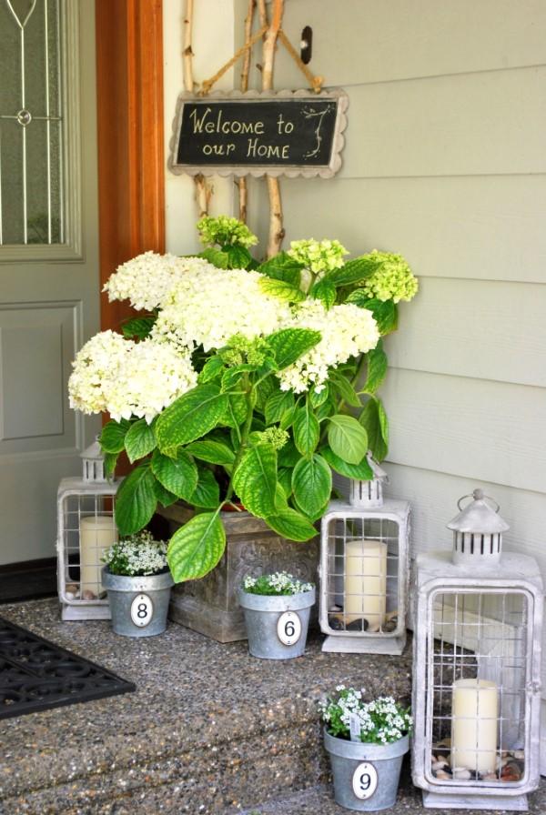 Sommer-Deko für den Eingangsbereich – hilfreiche Tipps und kreative Ideen rustikale laternen deko vintage