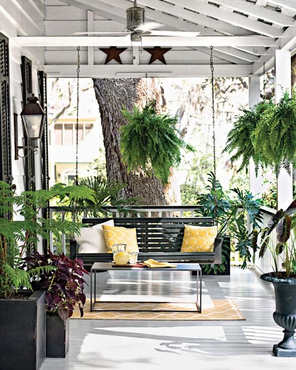 Sommer-Deko für den Eingangsbereich – hilfreiche Tipps und kreative Ideen sessel schaukel oaze exotik