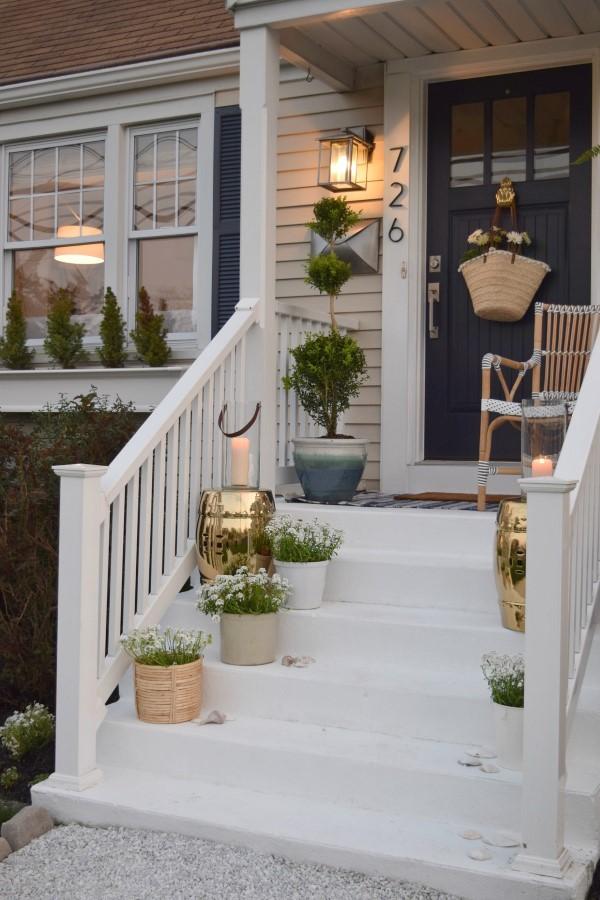 Sommer-Deko für den Eingangsbereich – hilfreiche Tipps und kreative Ideen treppen kreativ dekorieren