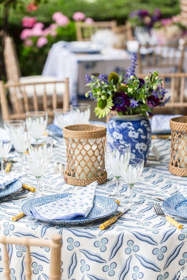Sommer-Tischdeko im nautischen Stil