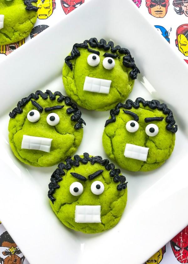 Σούπερ ιδέες παιδικών ηρώων για το επόμενο πάρτι κοστουμιών σας hulk kekse ideen νόστιμο