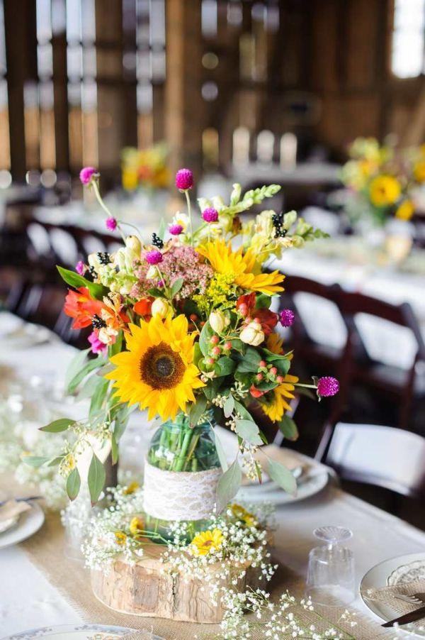 Tischdeko Hochzeit Sommerhochzeit