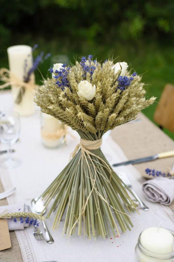 Tischdeko Weizen Zentralstück Tischdeko