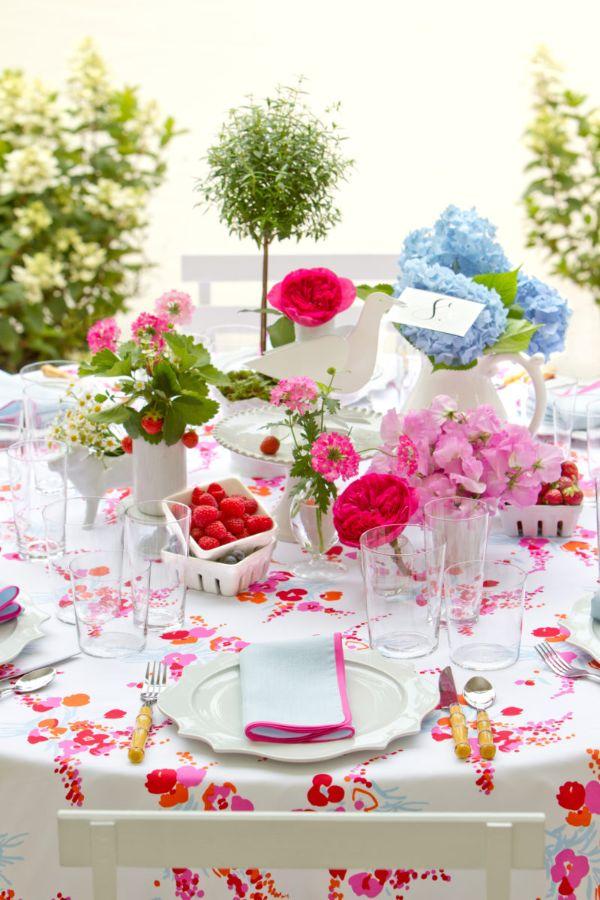 Tischdeko mit romantischen Flair
