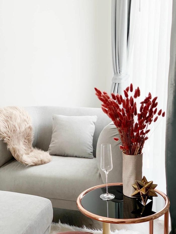 Trockenblumen Deko kranz trockene schönheit rot