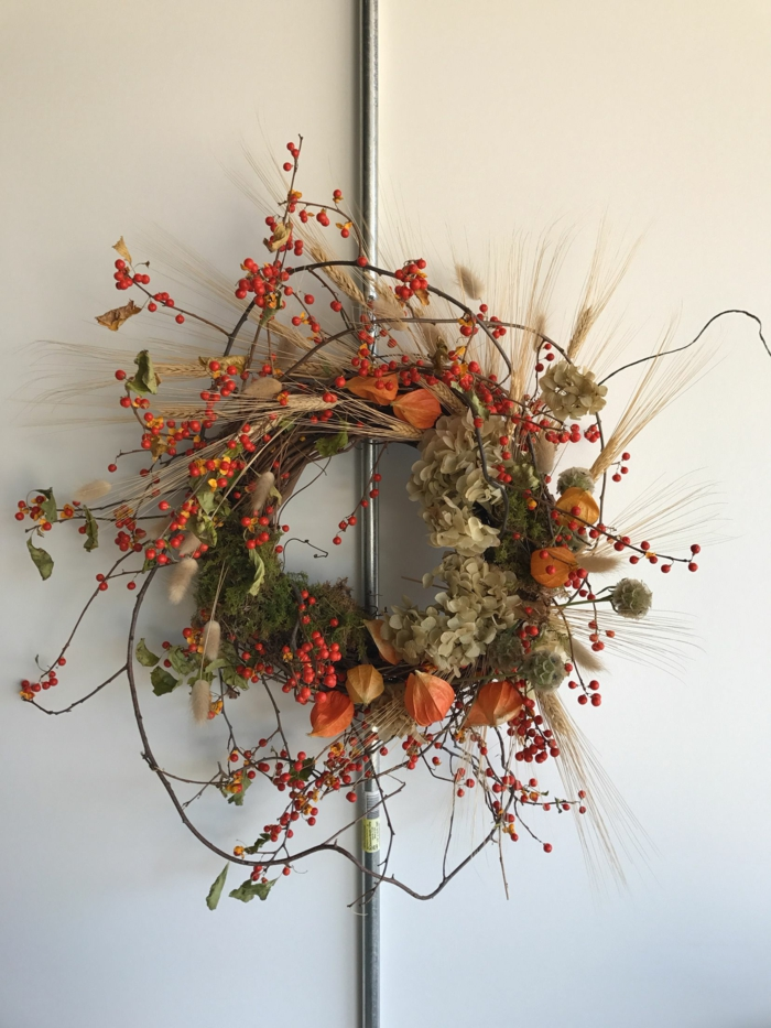 Trockenblumen Deko kranz
