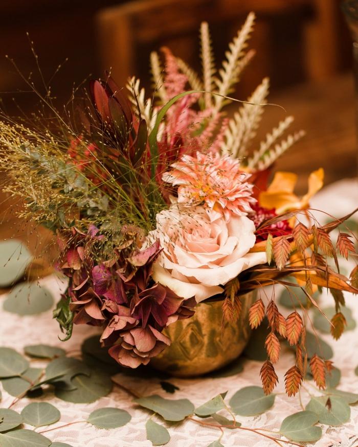 Trockenblumen Deko strauß farbgestaltung