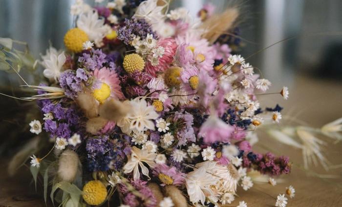 Trockenblumen Deko strauß feld