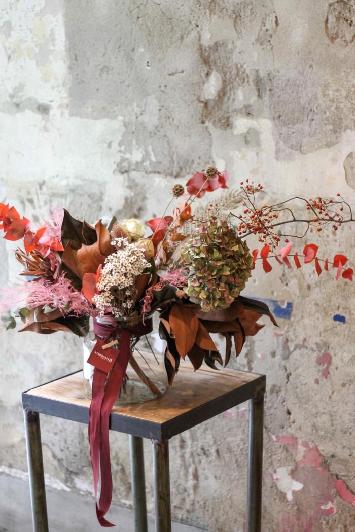 Trockenblumen Deko strauß getrocknete Blumen Deko Ideen Herbst basteln idee