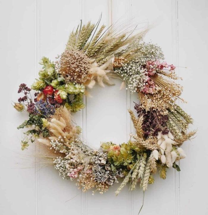Trockenblumen Deko strauß getrocknete Blumen Deko Ideen Herbst basteln kranz