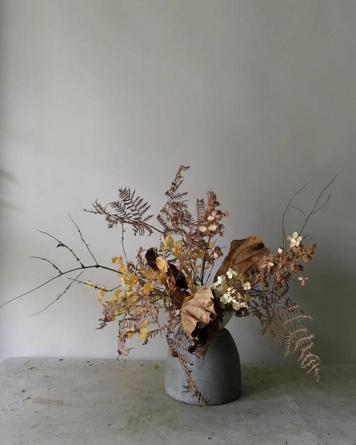 Trockenblumen Deko strauß getrocknete Blumen Deko Ideen Herbst basteln