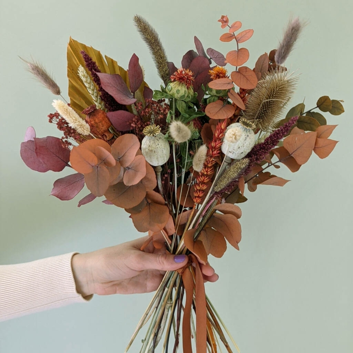 Trockenblumen Deko strauß getrocknete Blumen Deko Ideen Herbst