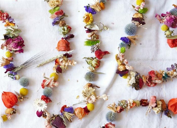Trockenblumen Deko strauß girlande