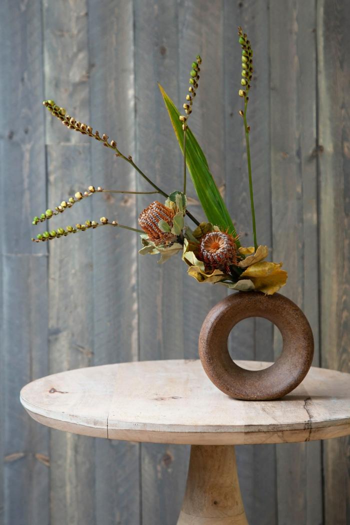 Trockenblumen Deko strauß in der vase