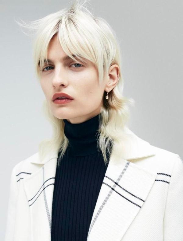 Vokuhila Frisur – die Retro Frisur bleibt auch 2021 hoch im Trend weiße haare farbe