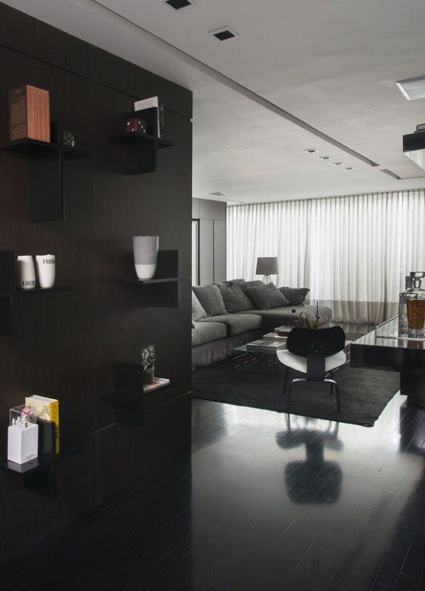 Wandgestaltung schwarz dunkle Wohnung