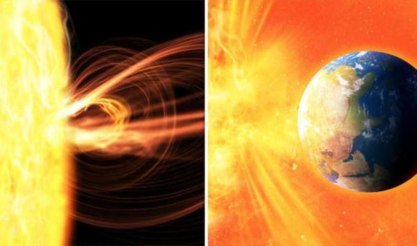 Was sind Sonnenstürme Sonneneruptionen Sonnenflecken