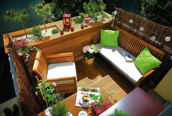 balkon sichtschutz ideen frische lösung farbige akzente