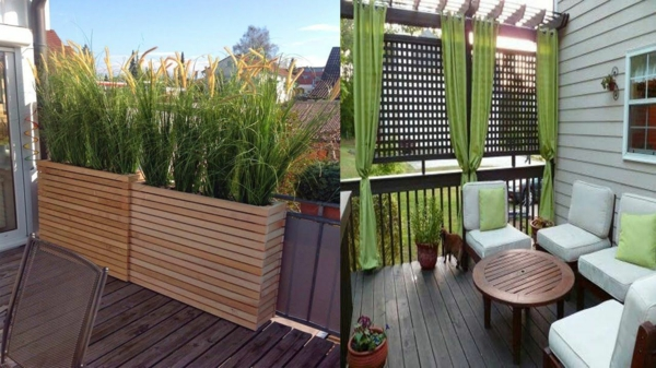 balkon sichtschutz ideen frisches flair bringen