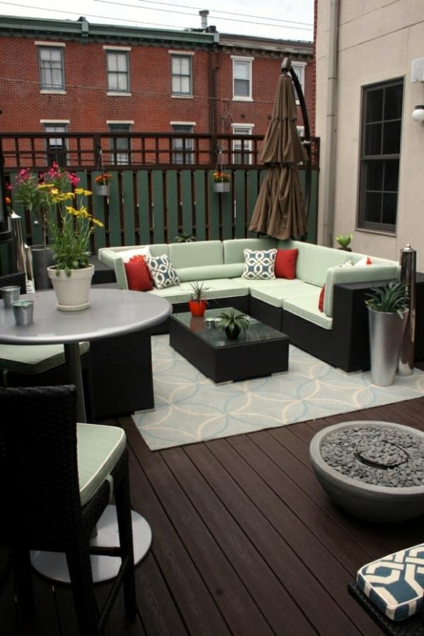 balkon sichtschutz ideen funktionale lösung großen balkon einrichten